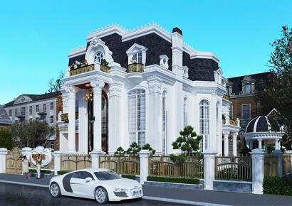 tổng hợp 1 số mẫu thiết kế biệt thự kiểu Pháp