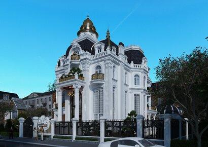 Vẻ đẹp siêu lý tưởng của mẫu thiết kế biệt thự kiểu Pháp