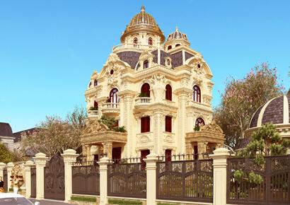 thiết kế biệt thự kiểu Pháp 3,5 tầng thể hiện sự sang trọng của gia chủ