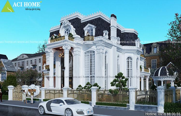 Ngắm 3 mẫu thiết kế biệt thự kiểu Pháp tại thành phố Hạ Long 3 tầng đẹp mãn nhãn
