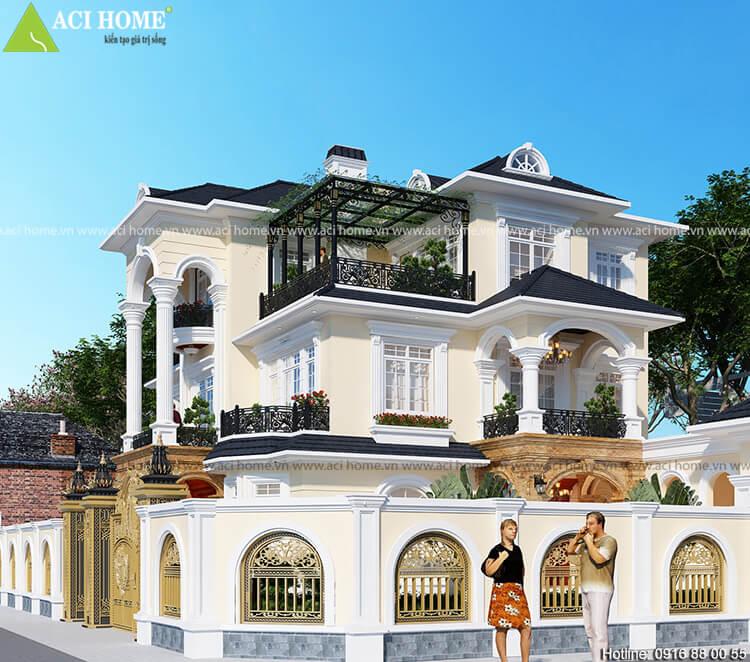 góc nhìn tổng quát thiết kế biệt thự tân cổ điển