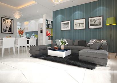 thiết kế nội thất với gam màu nhẹ