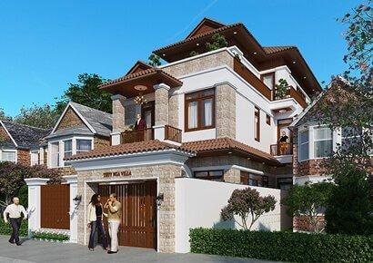 thiết kế biệt thự á đông tại Nho Quan Ninh Bình
