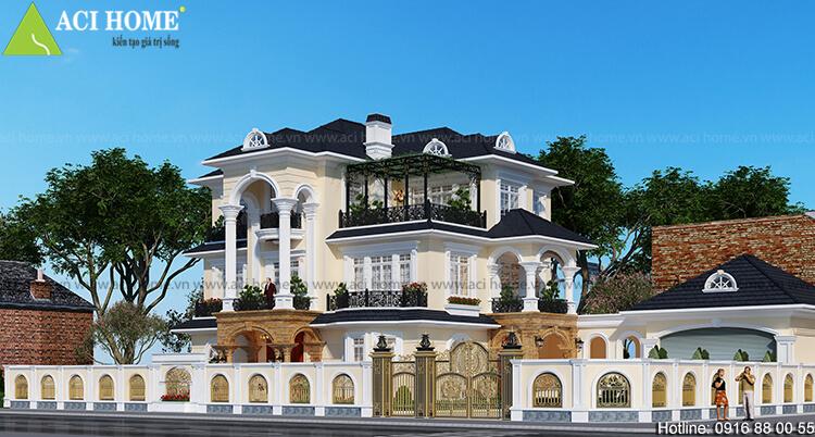 thiết kế biệt thự tân cổ điển tại thành phố thanh hóa