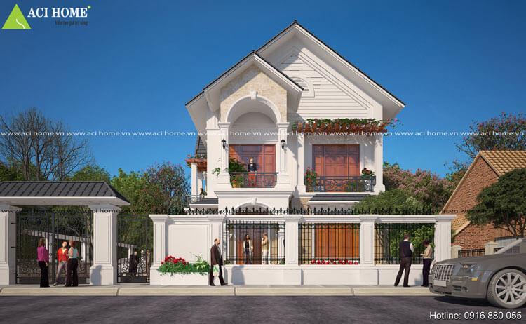 thiết kế biệt thự tân cổ điển tại thành phố Sóc Sơn