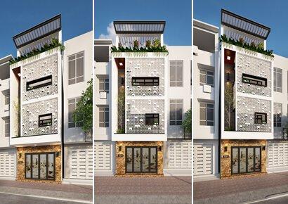 thiết kế nhà phố tại Hoàng Mai Hà Nội
