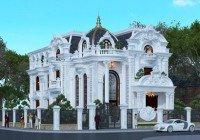 Mẫu thiết kế biệt thự kiểu Pháp 3,5 tầng đẹp tại Bình Dương