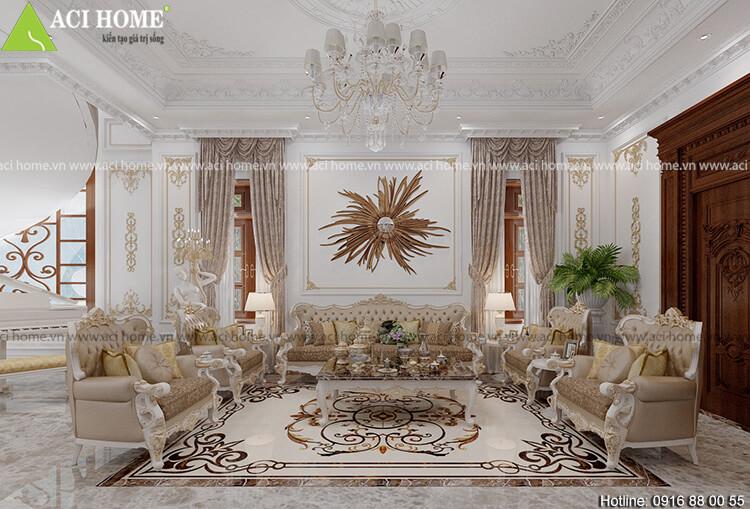 thiết kế phòng khách nơi  trung tâm của căn nhà