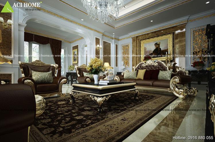 thiết kế nội thất phòng khách đẹp tại Vũng tàu View 1