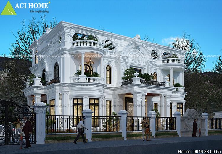 Thiết kế biệt thự kiểu Pháp quận 9 Sài Gòn