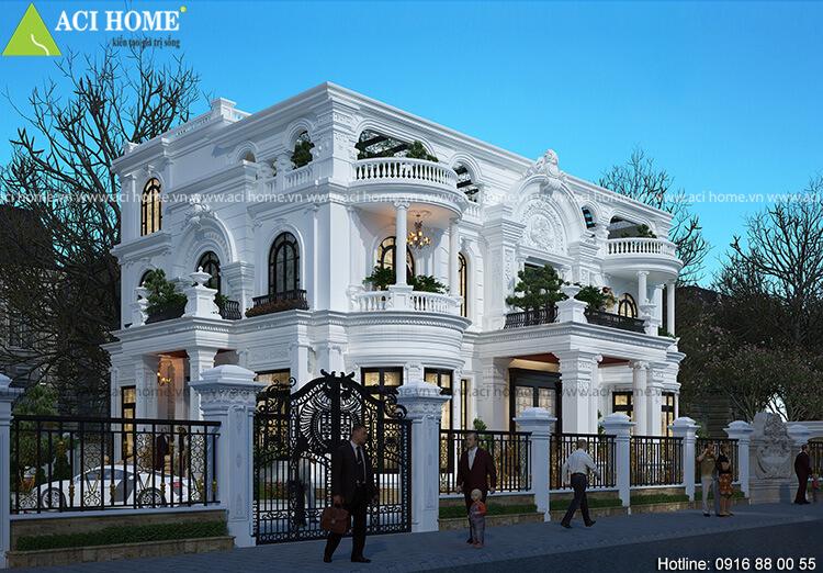 Tự hào với mẫu thiết kế biệt thự kiểu Pháp tại Q9