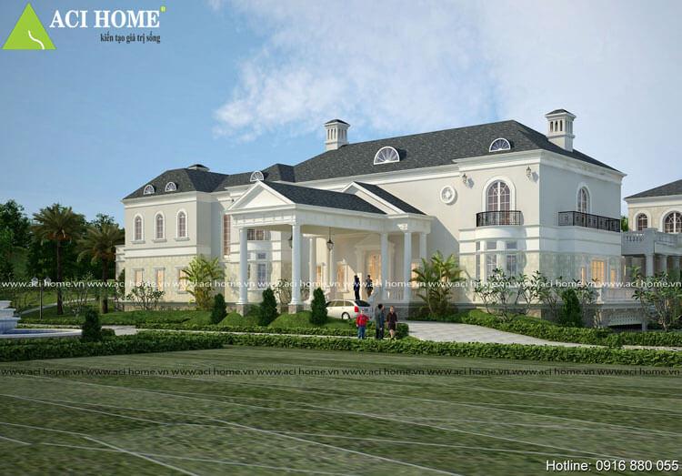 Thiết kế biệt thự kiểu Pháp tại Hòa Binh