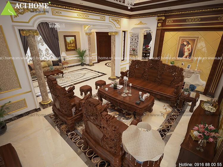 thiết kế nội thất biệt thự thành phố Bắc Ninh