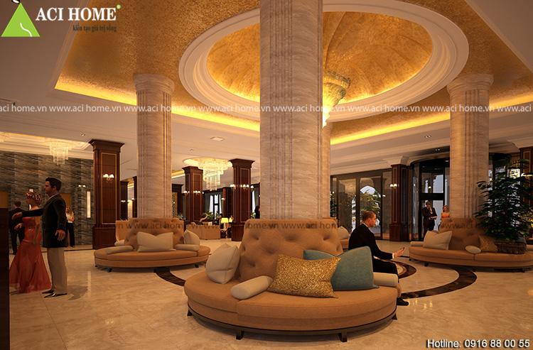 thiết kế nội thất khách sạn Hải tiến