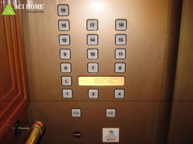 không có tầng ký tự số 13 trong thang máy