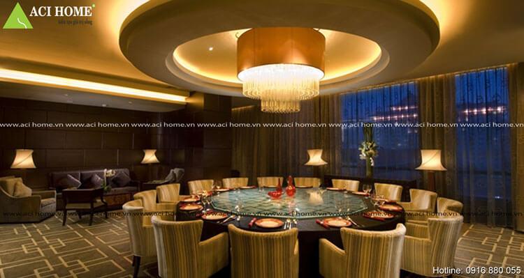 Nội thất phòng ăn tại khách sạn Sài Gòn