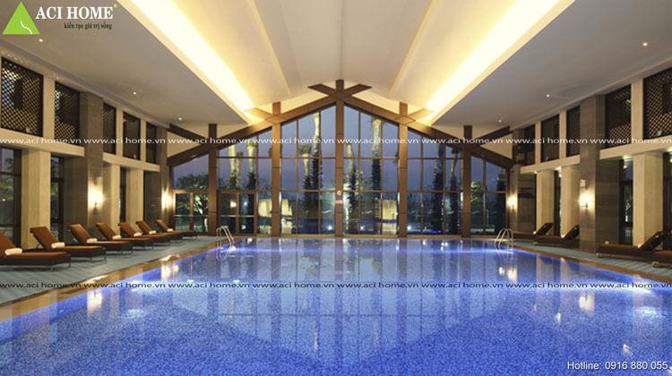 thiết kế bể bơi tại khách sạn tại Đà Năng
