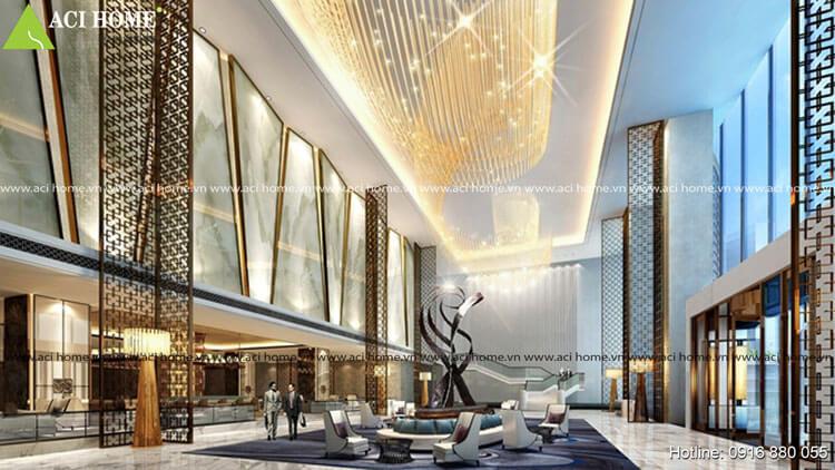 Thiết kế nội thất không gian lãng mạn trong khách sạn