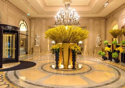 top 10 ý tưởng thiết kế sảnh chính khách sạn sang trọng
