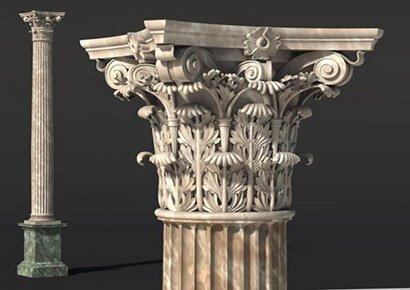 3 loại cột trong kiến trúc Pháp