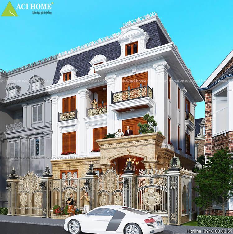 thiết kế cải tạo biệt thự tại thành Long Biên