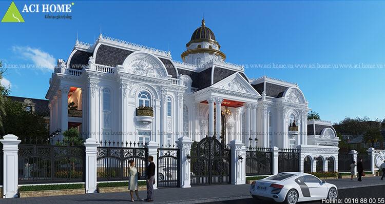 Thiết kế biệt thự 2 tầng với tiền sảnh nổi bật