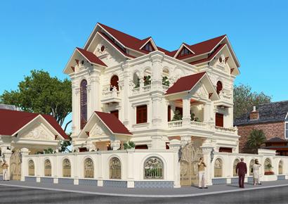 Mẫu thiết kế biệt thự tân cổ điển 3.5 tầng