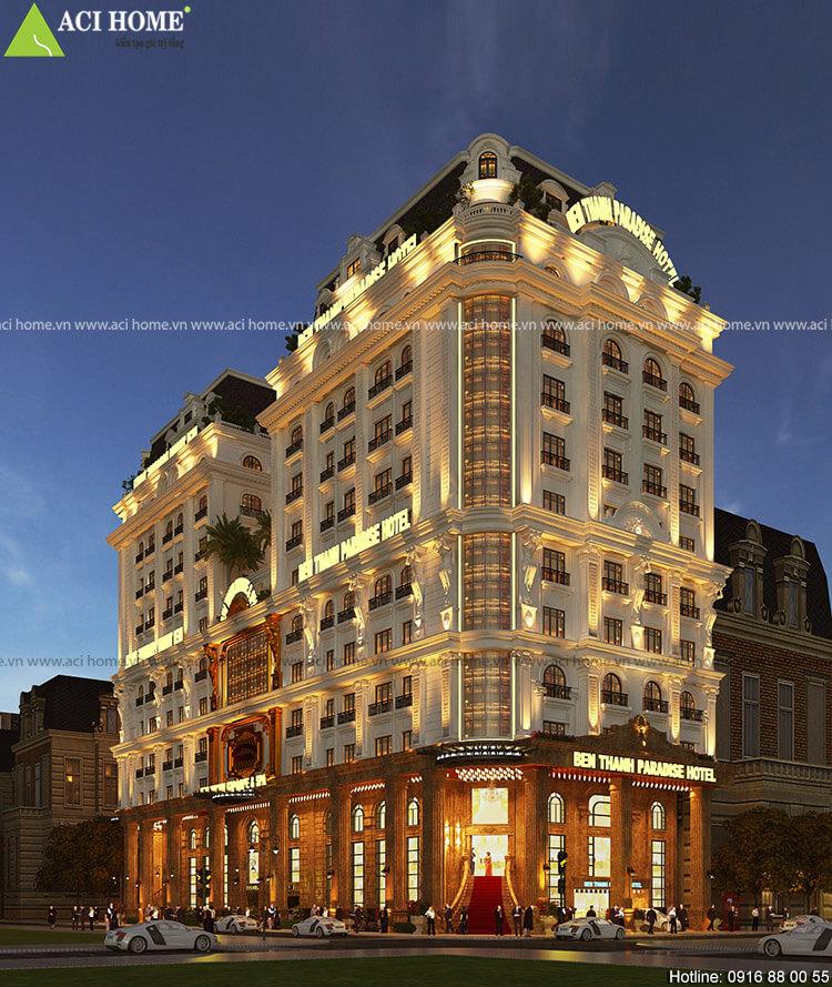 Mẫu thiết kế khách sạn kiểu Pháp Paradesi Hotel