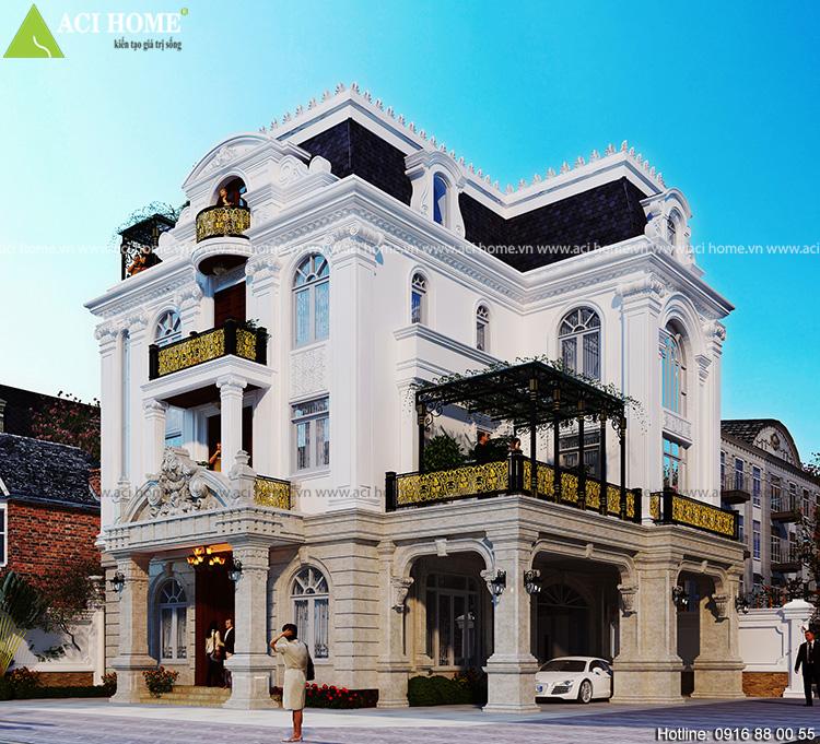 Mẫu thiết kế biệt thự kiểu Pháp tại Linh Đàm Hà Nội