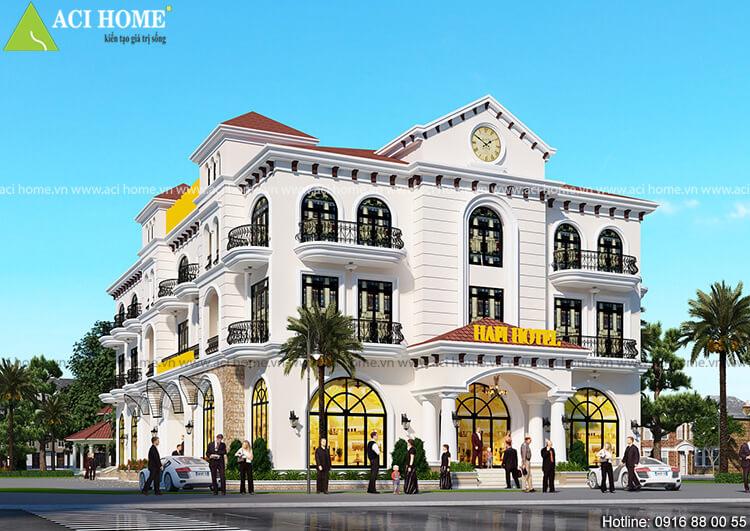 Góc nhìn tiểu cảnh mẫu thiết kế khách sạn 2 sao tại Vũng Tàu