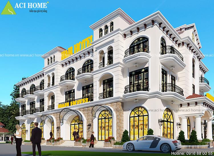 Khách sạn được thiết kế với nhiều ô cửa sổ cỡ lớn