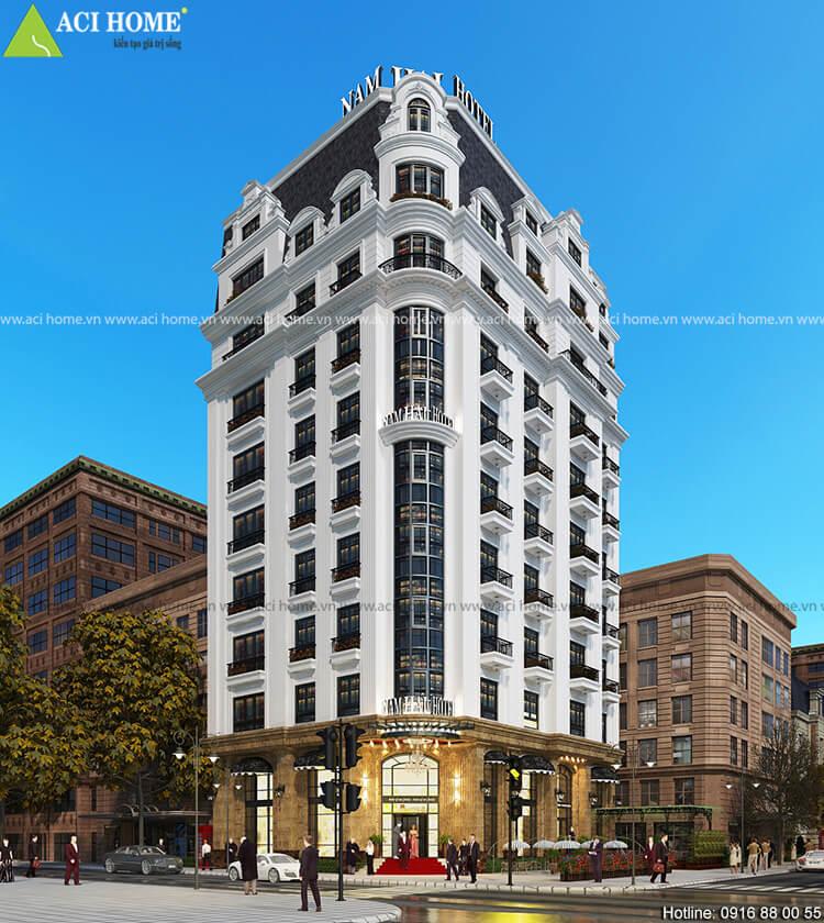 Mẫu thiết kế khách sạn Nam Hải Hotel