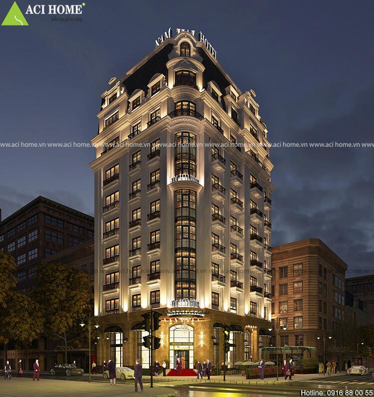 khách sạn được thiết kế với 10 tầng