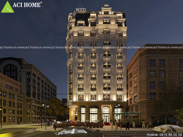 thiết kế khách sạn Nam Hải Hotel với kiến trúc Pháp