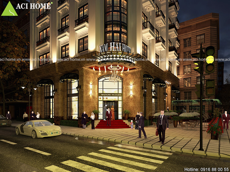 Thiết kế tiền sảnh của khách sạn