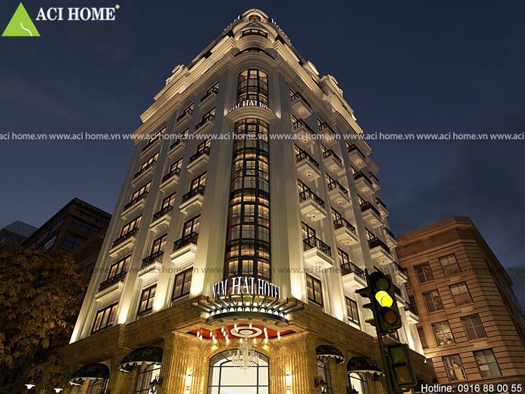 Thiết kế khách sạn Nam Hải với 10 tầng
