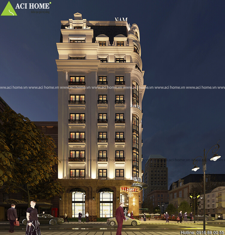 thiết kế khách sạn Nam Hải 2 mặt tiền