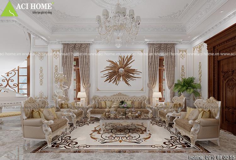 nội thất phòng khách hiện đại sang trọng