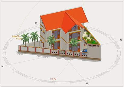 cách khách phục xây dựng nhà trên mảnh đất hình tam giác
