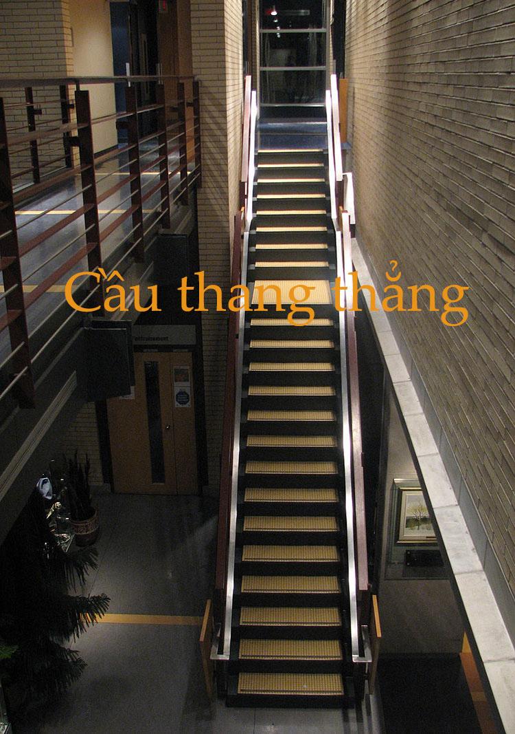 cầu thang thẳng
