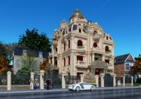 Mẫu thiết kế biệt thự kiểu Pháp 4.5 tầng tại Nam Đinh