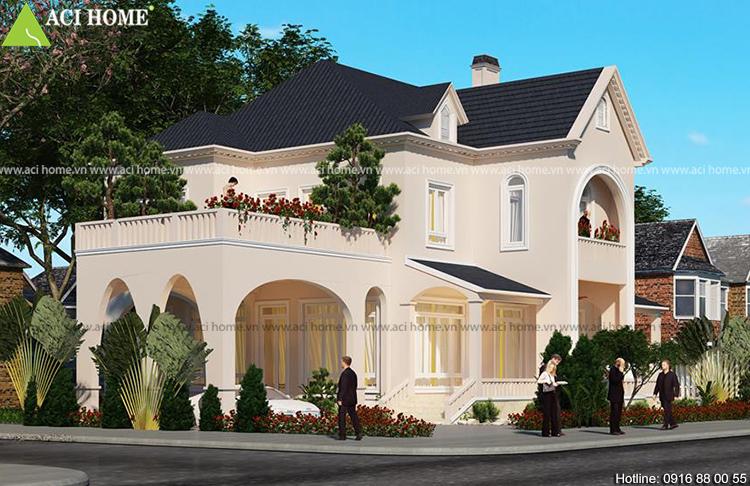 kiến trúc 2 tầng phù hợp với vùng đất Bắc Giang