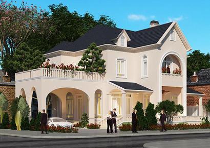 thiết kế biệt thự kiểu Pháp 2 tầng tại Bắc Giang