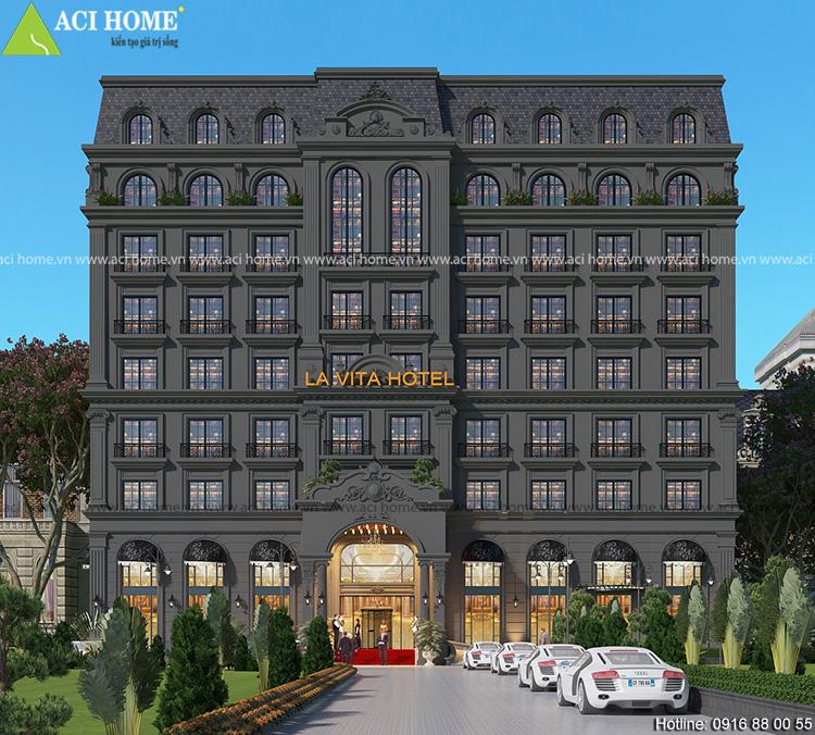 Mẫu thiết kế khách sạn cổ điển Pháp
