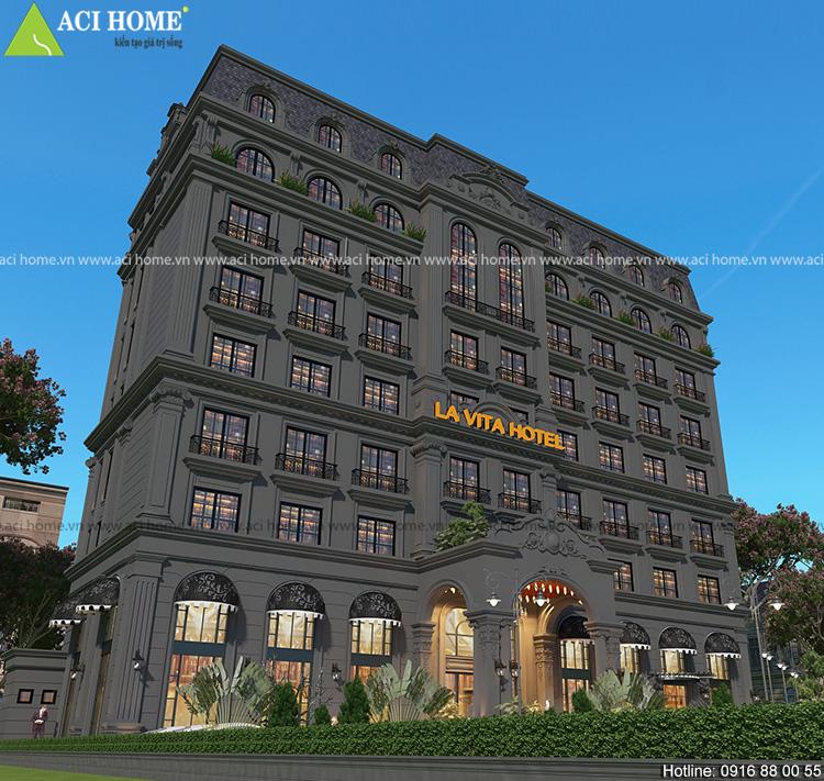 thiết kế khách sạn cổ điển lavita Hotel