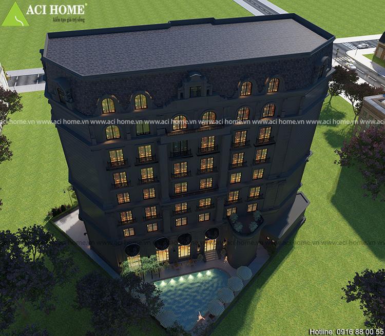thiết kế khách sạn cổ điển 17 tầng