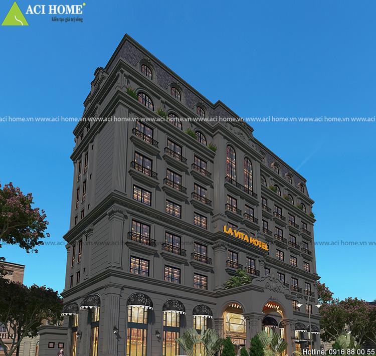 không gian khách sạn cổ điển sang trọng