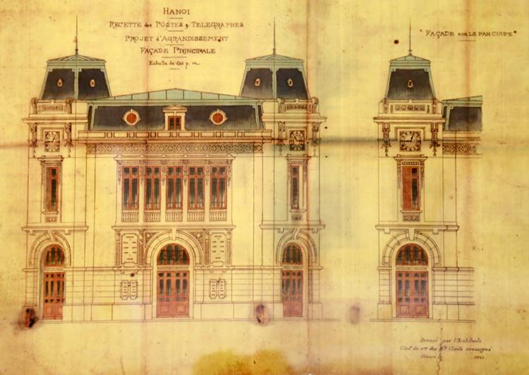 bữu điện được thiết kế theo kiến trúc Tân cổ điển