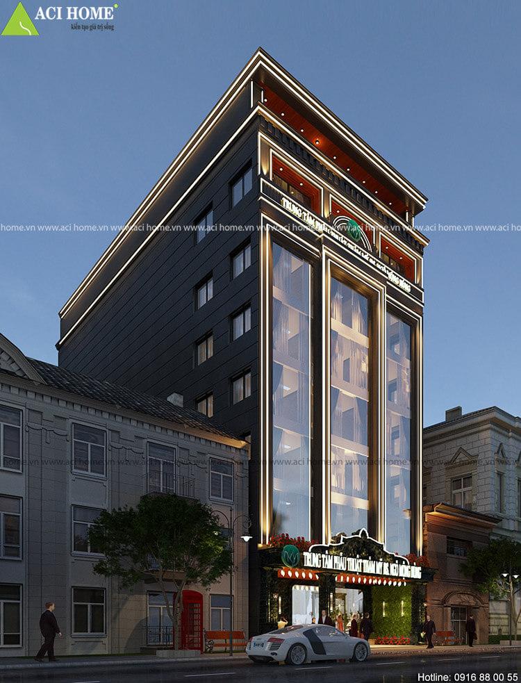 thiết kế nhà phố kết hợp kinh doanh thẩm mỹ viện