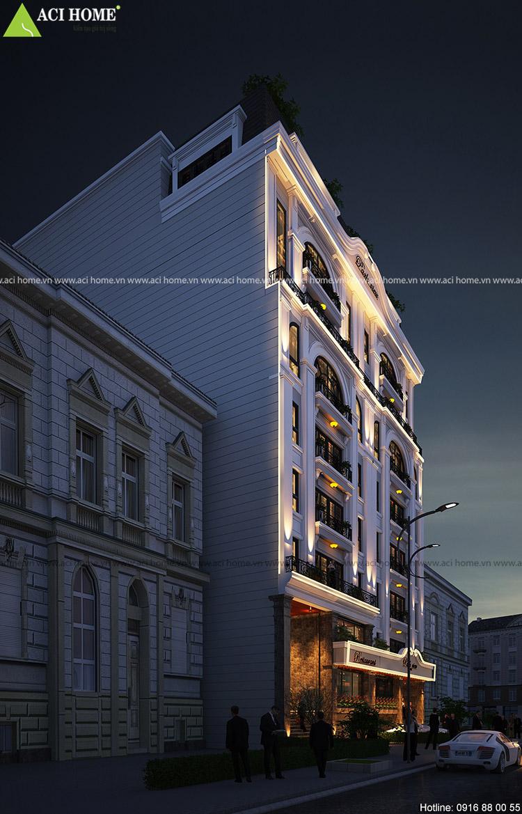khách sạn được thiết kế với 9 sàn